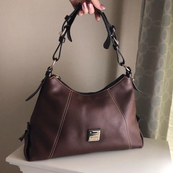 Dooney & Bourke Handbags - Dooney & Bourke Brown Leather Hobo Bag